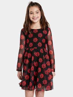 ALICIA Dress with floral details  - 1