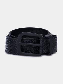 Кожен колан в черен цвят - 1