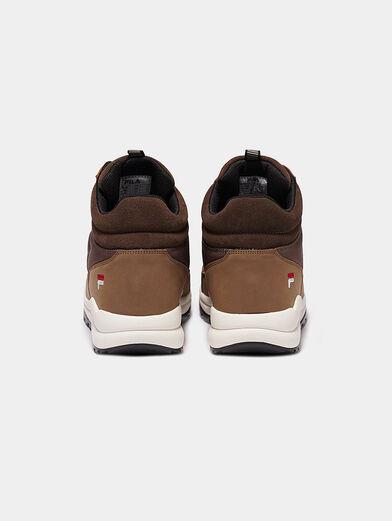 ALPHA MID Black high-top sneakers - 3