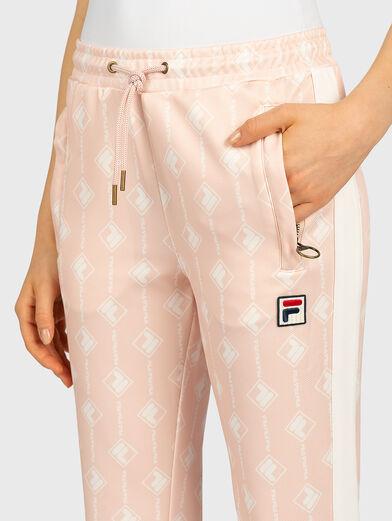 HAMO Pants with monogram logo print - 2
