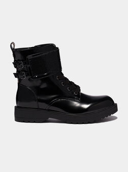 WANDA Combat boots with accent strap - 1