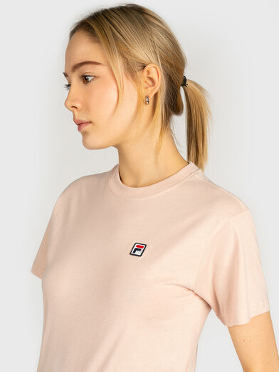 Cotton T-shirt in pink color - 2