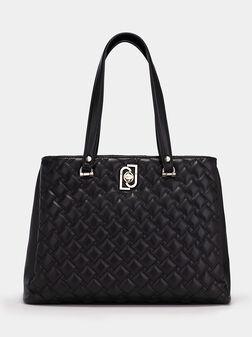 Чанта в черен цвят с лого - 1