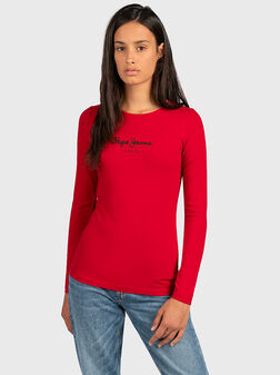 Блуза в червен цвят VIRGINIA - 1