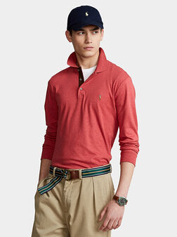 Polo-shirt with long sleeves - 1