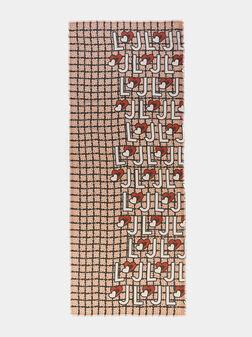 Правоъгълен шал с лого мотиви - 1