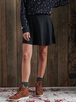 RILEY Mini skirt with leopard print - 1