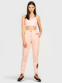 Спортен панталон HUDA в бледо розов цвят - 1