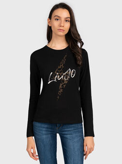 Blouse with logo detail and animal motifs - 1