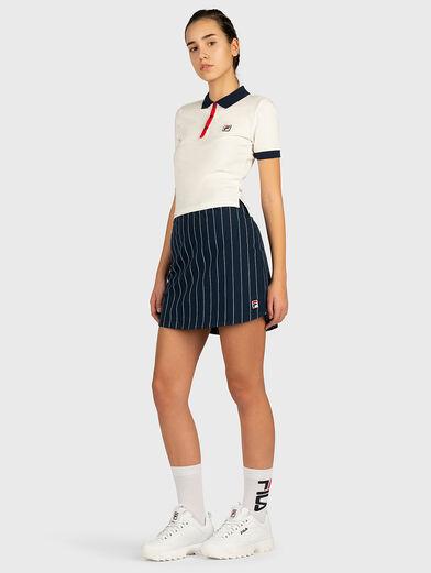 HATEYA Polo-shirt with contrasting collar  - 4