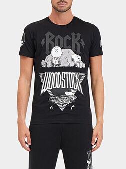Тениска с принт Rock Woodstock  - 1