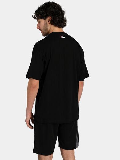 Cotton T-shirt in black - 3