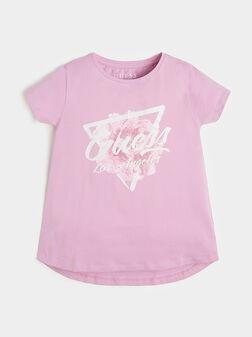 Тениска в розов цвят  - 1