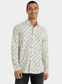 Риза ROZ с принт - 1