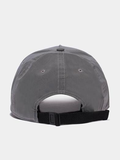Unisex grey baseball hat with logo - 2