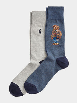 2 Pack socks with logo details - 1