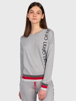 Пуловер с лого брандинг - 1
