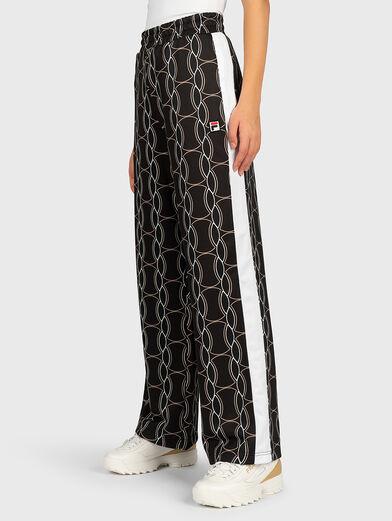 HADA Pants with contrasting print - 1