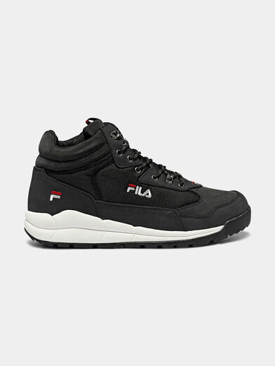 ALPHA MID Black high-top sneakers - 1