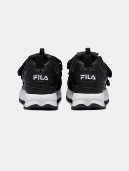 DISRUPTOR STRAPS Black sneakers with contrasting logo print  - 3