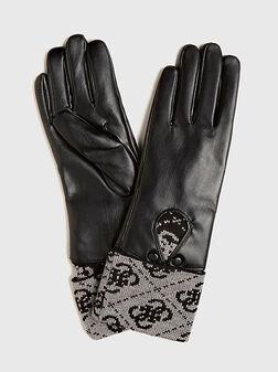 Ръкавици VALY с контрастен детайл - 1