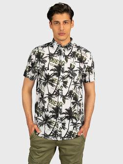 Памучна риза COLLINS с тропически принт - 1