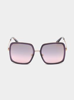 Очила със златна рамка и квадратни стъкла - 1