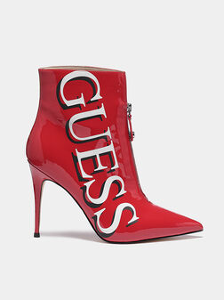 ORBIT Red ankle boots with logo print - 1