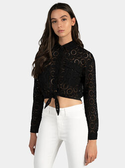 Памучна черна риза MARTA - 1