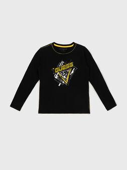 Блуза с лого принт - 1