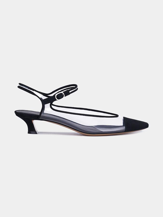 Обувки с прозрачни панели