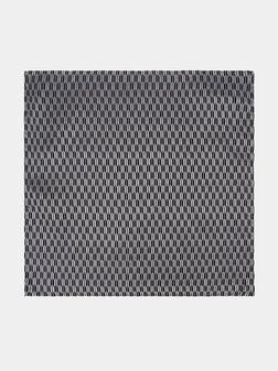 Silk handkerchief in black color - 1