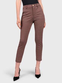 Chino pants with jacquard motifs - 1