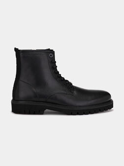 Trucker leather ankle boots - 1