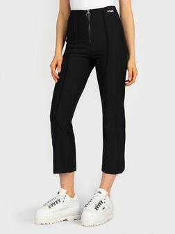 Скъсен черен панталон MAR - 1