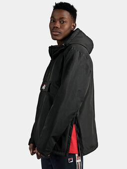 MICHIROU Hooded anorak in black color - 5