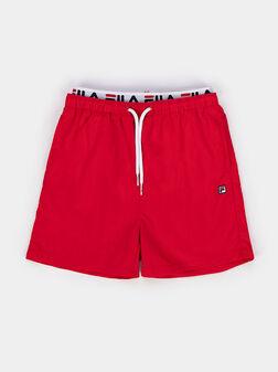 RENE red swim shorts - 1