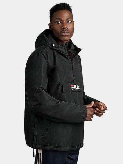 MICHIROU Hooded anorak in black color - 1