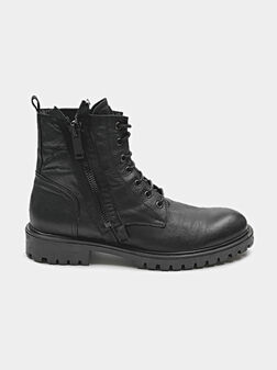 Combat boots with accent zips - 1