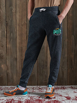 Спортен панталон VINTAGE LOGO в син цвят - 1