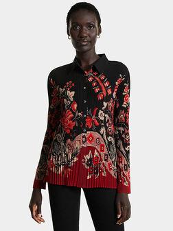 Риза с флорален принт - 1