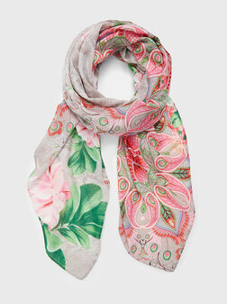 Scarf with floral print - 1