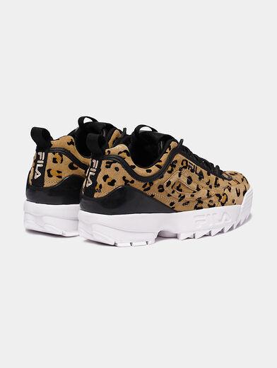 DISRUPTOR Suede sneakers with leopard print - 2