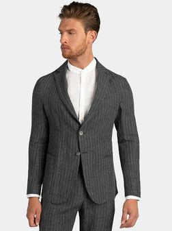 Linen grey jacket - 1