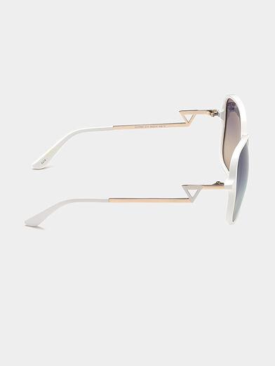 Square white sunglasses - 6