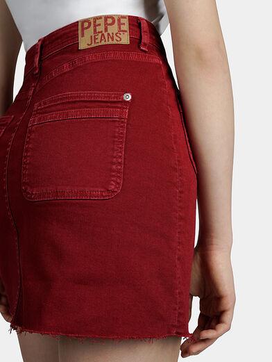 VICKY Denim mini skirt - 4