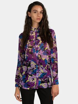 Риза с камуфлажен принт - 1