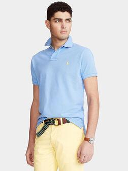 Skyblue cotton polo-shirt - 1