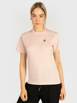 Cotton T-shirt in pink color - 1