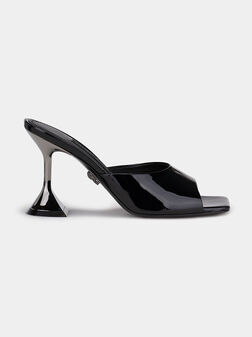 Leather heeled sandals - 1
